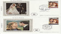 1986-07-22 Royal Wedding x2 Sml Silk FDC (61455)
