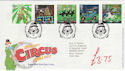 2002-04-09 Circus Stamps Clowne FDC (61518)