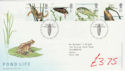 2001-07-10 Pond Life Stamps T/House FDC (61581)