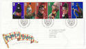 2001-09-04 Punch and Judy Stamps T/House FDC (61594)