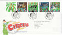 2002-04-09 Circus Stamps T/House FDC (61616)