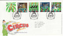 2002-04-09 Circus Stamps Clowne FDC (61618)