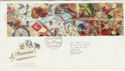 1992-01-28 Greetings Stamps Bureau FDC (61744)