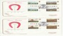 1979-06-06 Horseracing T/L Gutter Stamps Epsom x2 FDC (61779)