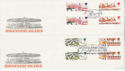 1983-10-05 British Fairs Gutter Stamps SHS x2 FDC (61787)