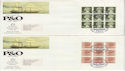 1987-03-03 P&O Booklet Pane Stamps Falmouth x4 FDC (61823)