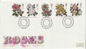 1991-07-16 Roses Stamps Bureau FDC (61914)