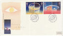 1991-04-23 Europe in Space Stamps Cambridge FDC (61920)