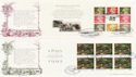 1995-04-25 National Trust PSB Full Panes x4 FDC (62001)