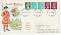 1971-02-15 Coil Stamps Glasgow FDC (62004)