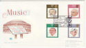 1980-09-10 Music Conductors Stamps London EC2 FDC (62105)