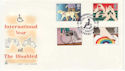 1981-03-25 Disabled Year Stoke Mandeville FDC (62109)