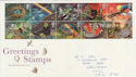 1991-02-05 Greetings Stamps Grantham FDC (62126)