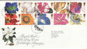1997-01-06 Greetings Flowers Stamps Kew FDC (62128)