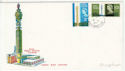 1965-10-08 Post Office Tower Stamps Hythe cds FDC (62134)