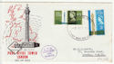 1965-10-08 Post Office Tower Stamps London + LTR FDC (62141)