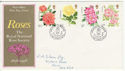 1976-06-30 Roses Stamps Northampton FDC (62173)