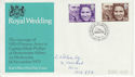 1973-11-14 Royal Wedding Stamps BF 1387 PS FDC (62180)