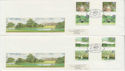 1983-08-24 British Gardens Stamps Gutters Kew x2 FDC (62186)