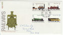 1975-08-13 Railway Stamps Longmoor BF 1396 PS FDC (62192)