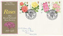 1976-06-30 Roses Stamps Bath FDC (62213)