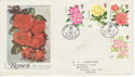 1976-06-30 Roses Stamps Northampton FDC (62248)