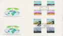 1983-03-09 Commonwealth Day Gutters x2 SHS FDC (62299)