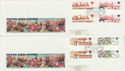 1983-10-05 British Fairs Gutter Stamps London x2 FDC (62305)