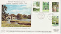 1983-08-24 British Garens Stamps Woodstock cds FDC (62325)