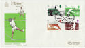 1977-01-12 Racket Sports Stamps Harrow FDC (62340)