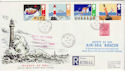1985-06-18 Safety at Sea Stamps Manston cds FDC (62347)