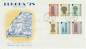 1978-05-24 IOM Europa Manx Crosses Stamps FDC (62464)