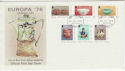 1976-07-28 Europa Ceramic Art Stamps FDC (62483)