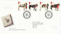 1997-07-08 Queens Horses Stamps Windsor FDC (62563)