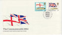 1984-04-10 Guernsey Commonwealth Flags Stamps FDC (62646)