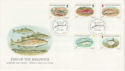 1985-01-22 Guernsey Fish Stamps FDC (62692)