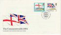 1984-04-10 Guernsey Commonwealth Flags Stamps FDC (62768)