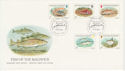1985-01-22 Guernsey Fish Stamps FDC (62770)