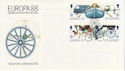 1988-05-10 Guernsey Europa Transport Stamps FDC (62791)