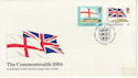 1984-04-10 Guernsey Commonwealth Flags Stamps FDC (62805)