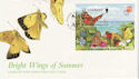1997-02-12 Guernsey Butterflies / Moths M/Sheet FDC (62819)
