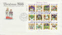 1986-11-18 Guernsey Christmas Stamps M/S FDC (62824)