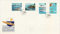 1988-09-06 Guernsey Power Boats Stamps FDC (62835)