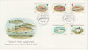 1985-01-22 Guernsey Fish Stamps FDC (62837)