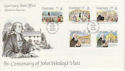 1987-11-17 Guernsey John Wesley Stamps FDC (62841)