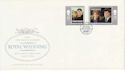 1986-07-23 Guernsey Royal Wedding Stamps FDC (62856)