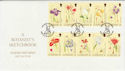 2000-08-04 Guernsey Flower Stamps FDC (62877)