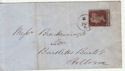 Queen Victoria 1d Red Used on Cover (62882)