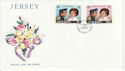 1973-11-14 Jersey Royal Wedding Stamps FDC (62904)