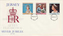 1977-02-07 Jersey Silver Jubilee Stamps FDC (62925)